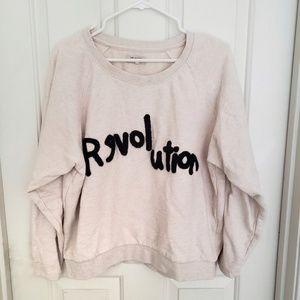 ASOS Selected Femme Revolution Cropped Sweatshirt